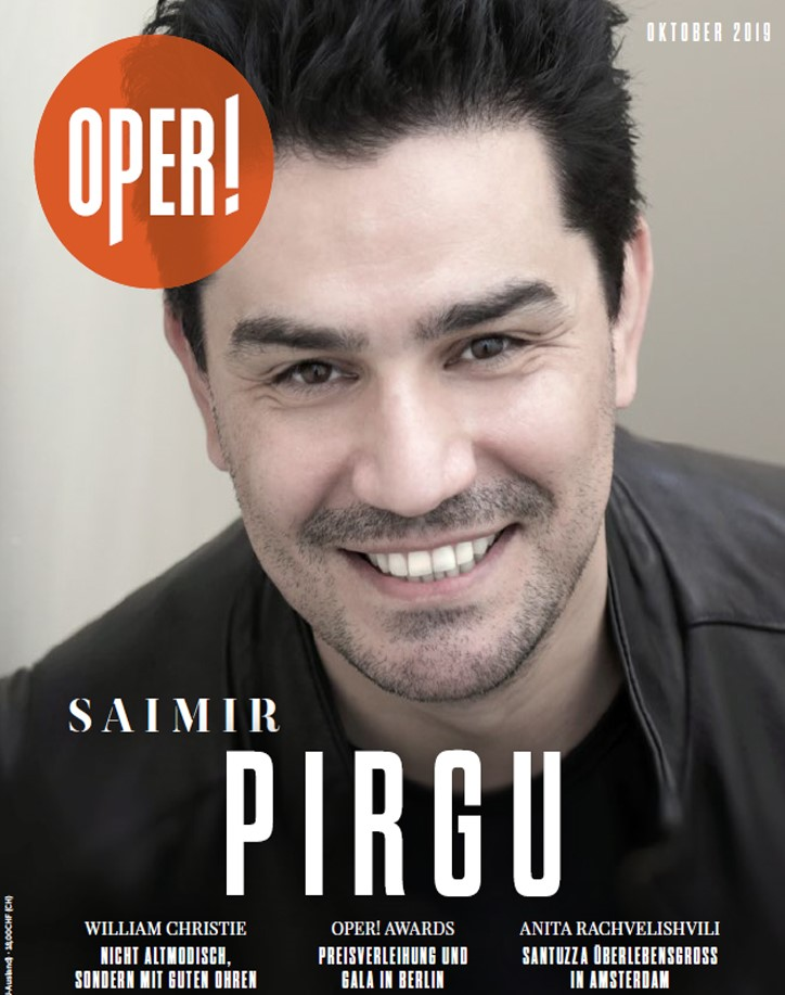 Saimir Pirgu on the cover of October 2019 issue of Oper Magazine